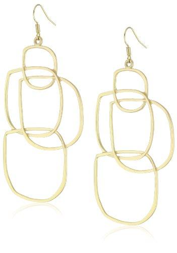 RAIN Gold-Tone Multi-Shape Earrings