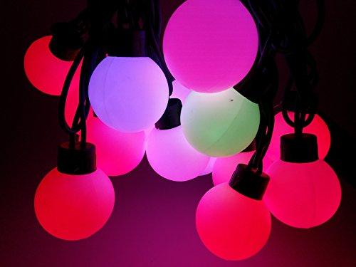 Aspentek 5Meters/16.4Ft Multi-Color Led String Light/Led Christmas Light For Christmas,Party, Wedding Curtain, Outdoor Decoration, 2013 Big Ball Style, 20 Pcs Dia 4Cm Led Lamps,110-240V
