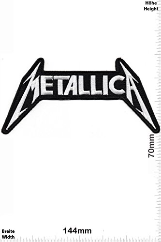 Patch - Metallica - silver - HQ - MusicPatch - Rock - Chaleco - toppa - applicazione - Ricamato termo-adesivo - Give Away