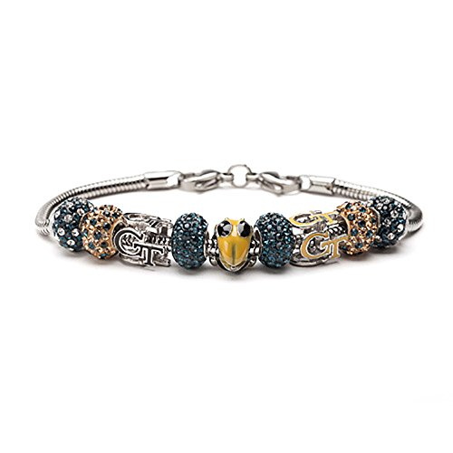 Georgia Tech Buzz Yellow Jackets Bead Charm Bracelet