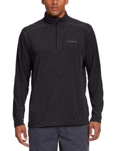 Columbia Klamath Range II Half Zip Pullover in Pile - Nero (Nero(Black)) - XL