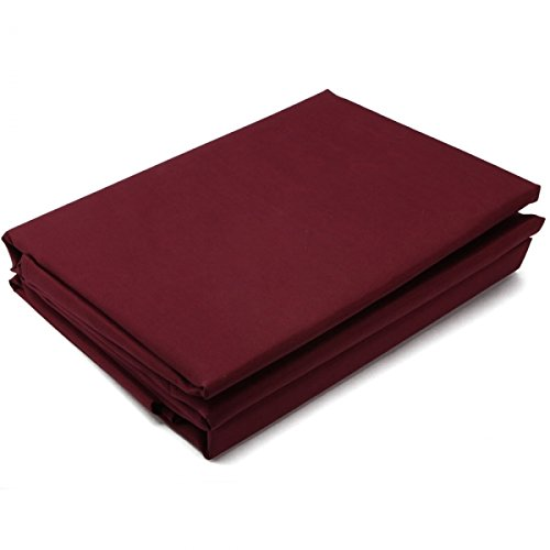 "4Pc Microfiber Bedding Sheet Set For King (102"" X 108"") Burgundy 13005923 front-377235"