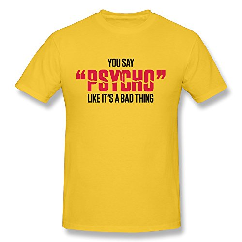 Custom Made Men Psycho Pure Cotton Tee Shirts front-631288