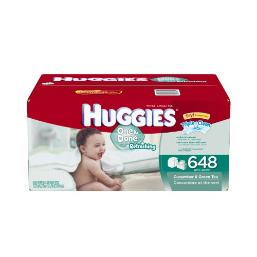 Huggies One and Done Refreshing Baby Wipes Refill, 648 Count (Packaging may vary)