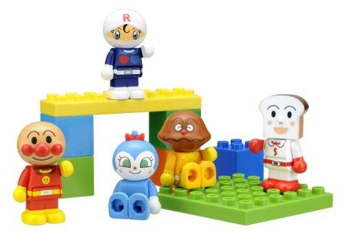 ブロックラボ ブロックといっしょに遊べる! わいわいブロックドールセット(アンパンマン・ワールドブロックシリーズ)