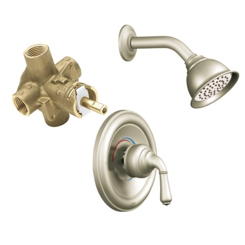 Moen T2444EPBN-2510 Monticello Posi-Temp Shower Trim Kit with Lever Handle and Valve, Brushed Nickel
