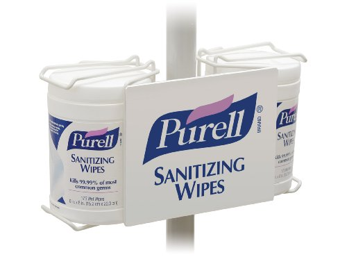 Purell 9002-01 Sanitizing Wipe Pole Mount Bracket, Double Canister front-745139