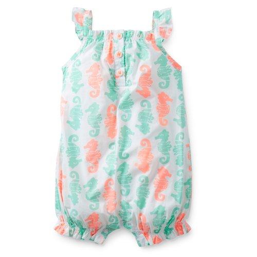 Carter's (カーターズ) :: ロンパース ショートオール 半袖 綿100% :: Woven Print Romper :: 24M :: 83-86 cm :: 正規タグ保証