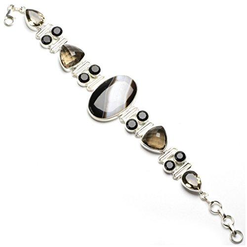 stargems-tm-naturel-botswana-agate-quartz-fume-et-onyx-noir-design-unique-bracelet-en-argent-sterlin