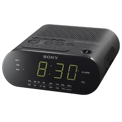 Sony ICF C112 FM/AM Clock Radio with Full Power Back up