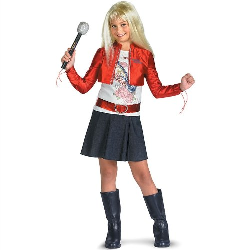 Hannah Montana w Red Jacket & Blonde Wig Costume