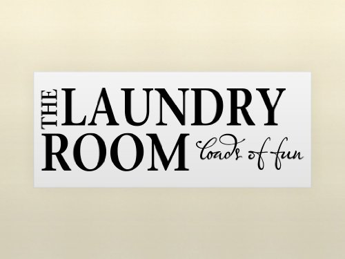 THE LAUNDRY ROOM LOADS OF FUN Vinyl wall lettering stickers quotes and sayings home art decor decal