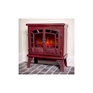 Duraflame Liberty Cranberry Electric Fireplace Stove With Remote Control Dfs 750