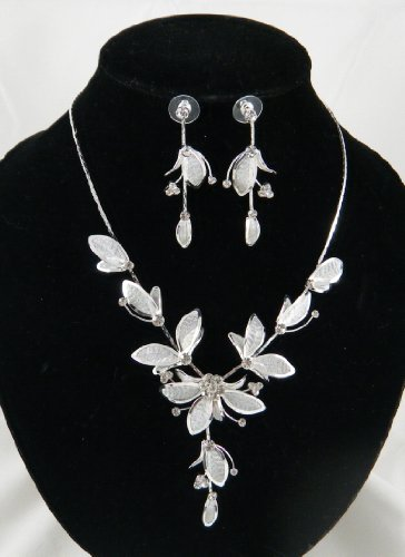 Wedding Necklace Earrings Bracelet Sets For Brides S11513