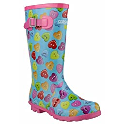 Cotswold Childrens Button Heart Wellies/Big Girls Boots (6 US) (Multi)