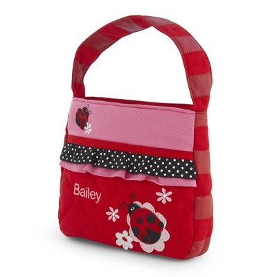 Personalized Quilted Ladybug Purse front-846090