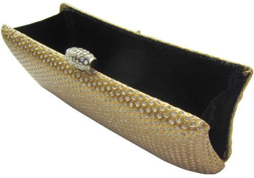 Crystal Hard Clutch - Gold