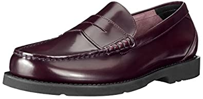 Rockport Men's Shakespeare Circle Penny Loafer,Burgundy Brush Off,6.5 W US