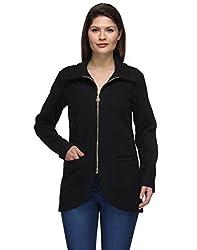 Natty India Black Wool Blend Women's Western Wear Jacket