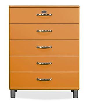 Kommode Malibu 5295 mit 5 Schubladen in orange Sideboard von Tenzo