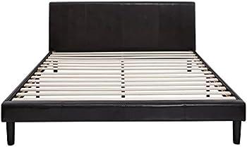 Zinus Faux Leather Platform Bed