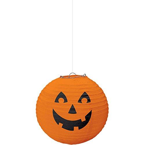 Amscan Halloween Pumpkin Paper Lantern-18 inches