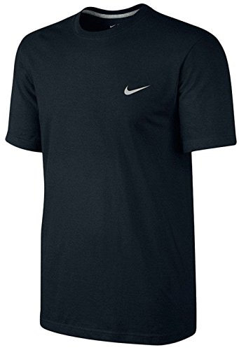 Nike Mens Classic Embroidered Swoosh T-Shirt-Black-Large