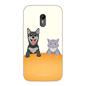 Designer Phone Covers - Moto G3-cat-and-dog