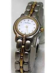 Bertolucci Watches Bertololucci Mini Vir Steel and 18k Gold Diamond Bezel and Lugs Diamond Hour Markers Mother of Pearl Dial Swiss Women's Watch