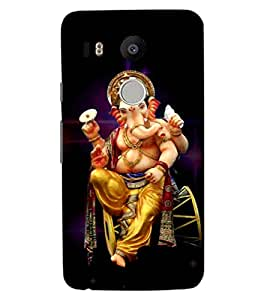 ColourCraft Lord Ganesha Design Back Case Cover for LG GOOGLE NEXUS 5X