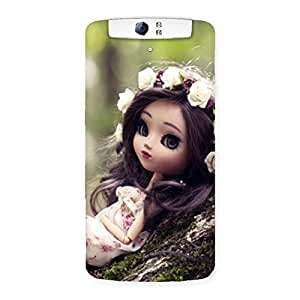 Cute Angel And Tree Multicolor Back Case Cover for Oppo N1