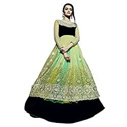 Aagaman Fashion Chiffon Lehenga Cholis (TSN88011_Green)