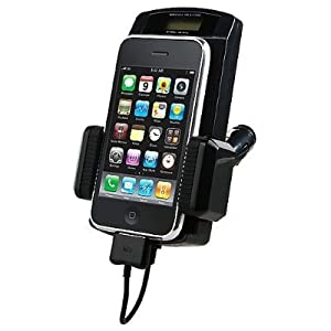 Permium Black 7-In-1 FM Transmitter Car Charger Kit for Apple Iphone 3GS 3G, IPod Nano 3rd 4th, Ipod Classic, Ipod Touch 1st 2nd 3rd Gen Generation W/ Free Remote Controller