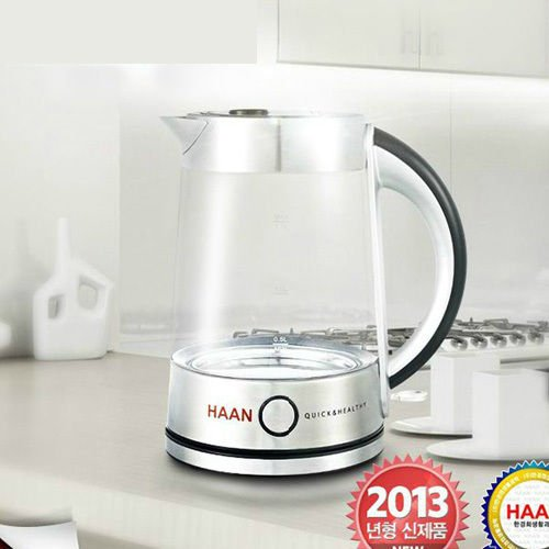 NEW HAAN HP-400 Wireless Tempered Glass Water Kettle Eco-friendly ;TM79F-32M UGBA643047 (Kettle Wireless compare prices)