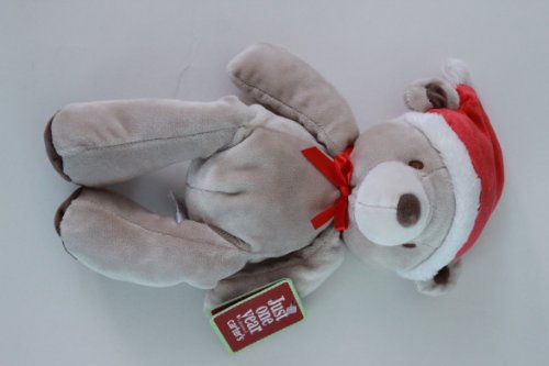 Just One Year Santa Plush Bear