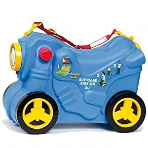 Molto Ride On Pull Along Kids Smiler Suitcase Wheeled Hand luggage - Blue by MOLTO