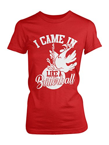 logopop-womens-i-came-in-like-a-butterball-t-shirt-s-red