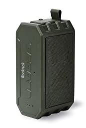 Waterproof Bluetooth Speakers,Outdoor Wireless Speaker, Mini Stereo Bluetooth Speakers with Mic, 12 Hours Playtime, 2 X 3.5 W Strong Speaker Drivers, Support TF AUX - Green