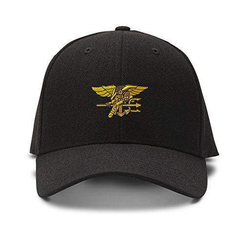 U.S. NAVY SEAL MILITARY Embroidery Embroidered Adjustable Hat Baseball Cap Black (Great Seal Hat compare prices)
