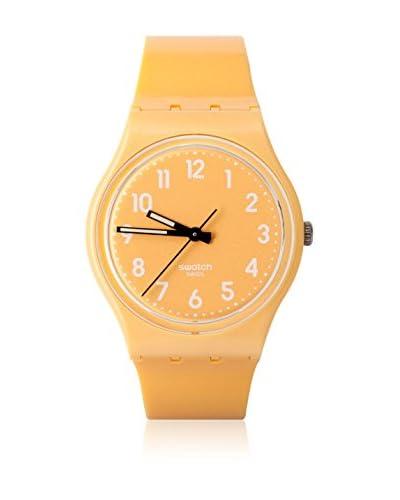 Swatch Reloj de cuarzo Unisex FLAKY YELLOW GJ132 34 mm