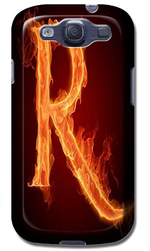 Phone Accessories Lovely 26 Fire Letter Character Cute Design Special For Samsung Galaxy S3 i9300 No.18