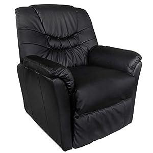 poltrona massaggiante relax vibrante nera ecopelle
