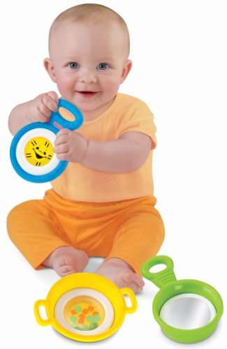 Fisher-Price Brilliant Basics Stack & Nest Pots & Pans - 1