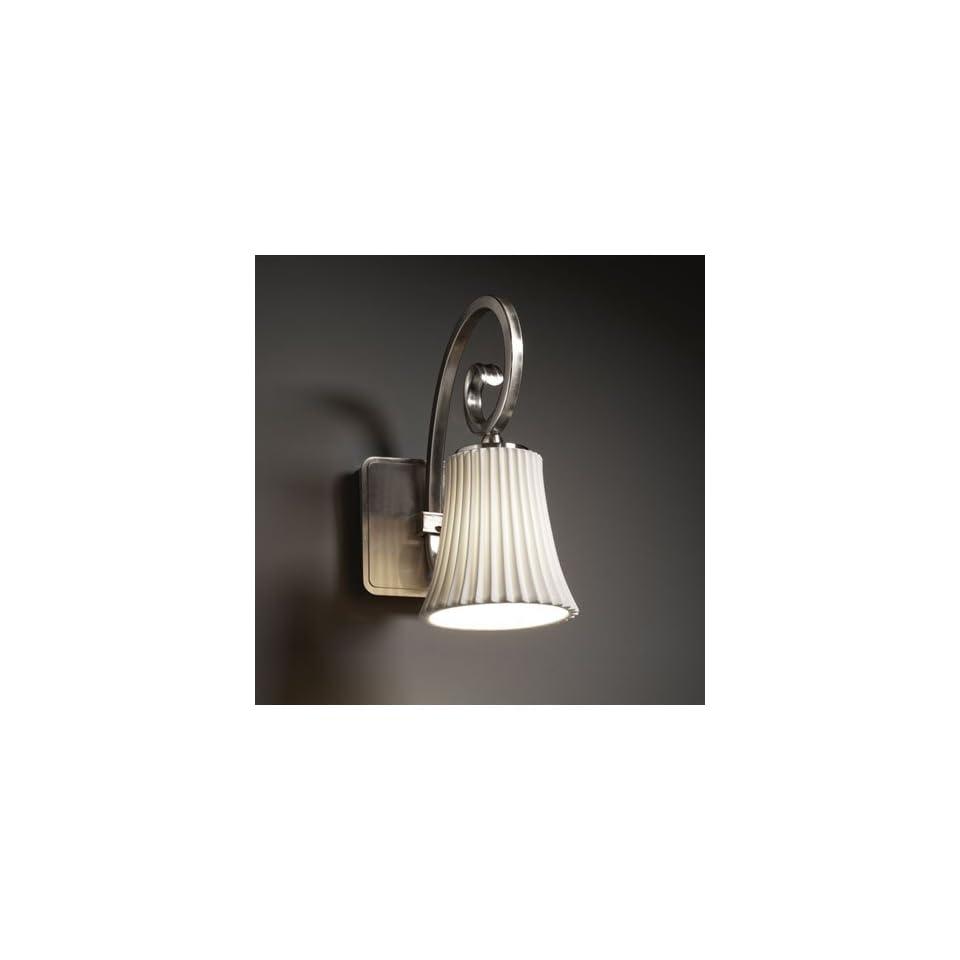 Justice Design Group POR 8571 20 PLET NCKL Limoges 1 Light