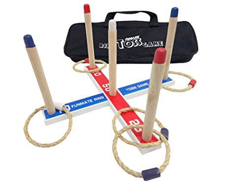 funmate-deluxe-wooden-garden-quoits-ring-toss-hoop-la-game-outdoor-indoor-rope-quoitsw-oxford-fabric