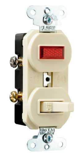 Pass & Seymour 692Igcc6 Combination Grounding Single Pole 15-Amp 120-Volt Switch And Pilot Light, Ivory