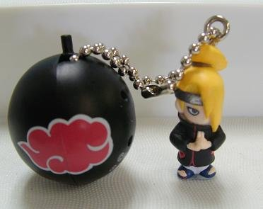 Naruto Shippuden Figure Keychain Deidara with Bell Chime
