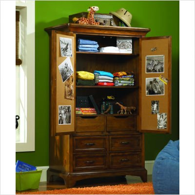 Opus Designs 732-10-100 Tahoe Armoire in Brown