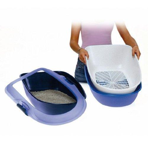 trixie-barto-40152-cat-litter-tray-39-x-22-x-59-cm-light-blue-dark-blue-granite