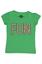 Chalk by Pantaloons Girl's Round Neck T-Shirt (205000005609220, Green, 2-3 Years)